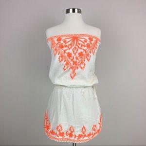 Anthro Sand & Spirit Strapless Mini Dress Small
